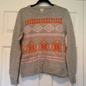 J. Crew - thick patterned sweater